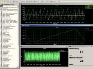 Kanalnavigator mit grafischen Online-Fenstern in der Can Bus Software